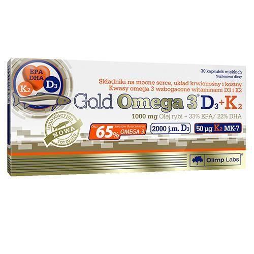 Gold Omega 3 D3 + K2 - OLIMP