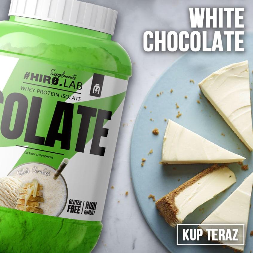 izolat o smaku białej czekolady