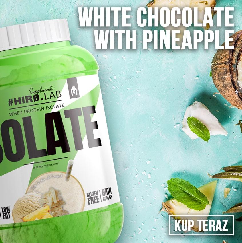 izolat o smaku czekolady z ananasem