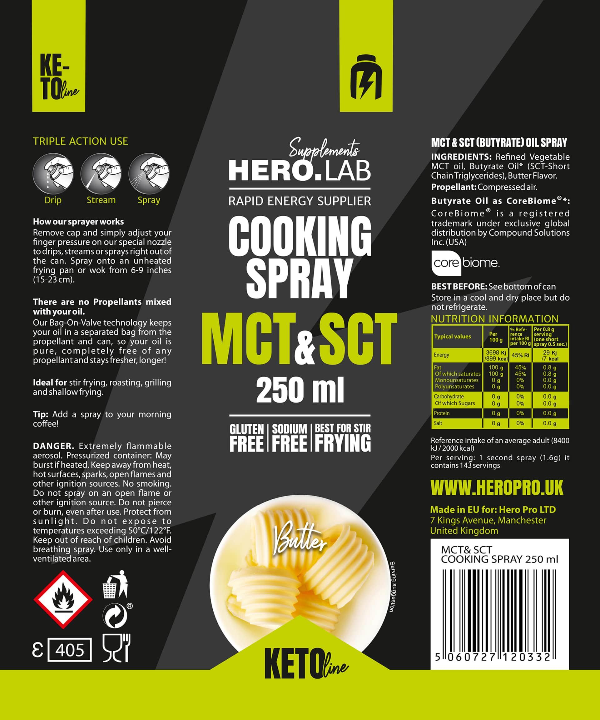 etykieta cooking spray