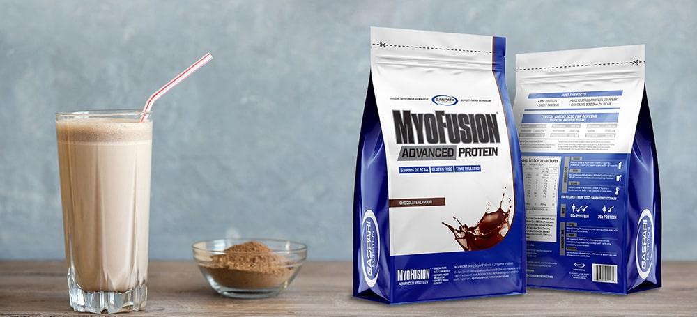 """""""Myofusion Advanced EU"""" - 500 g - GASPARI MITYBA - Kaina, dawkowanie, opinie - sklep MusclePower"""