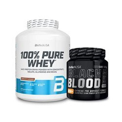 100% Pure Whey - 2270g + Black Blood NOX+ - 330g GRATIS