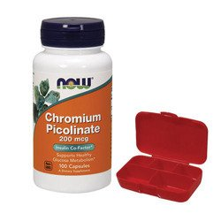 Chromium Picolinate 200mcg - 100caps + Pillbox (Chrom)