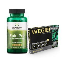 Epic Pro 25-Strain Probiotic - 30vcaps + Activated Carbon 150mg - 10caps