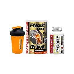 Flexit Drink Gold - 400g + Vitamin C - 100tabs + Shaker