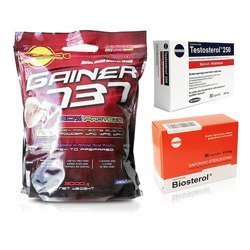 Gainer 737 - 3000g + Testosterol 250 - 30caps + Biosterol - 36caps