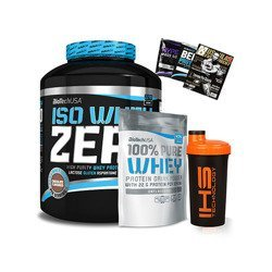 Iso Whey Zero - 2270g + 100% Pure Whey - 1000g + Shaker IHS - 700ml + Sample 2pcs + Catalog