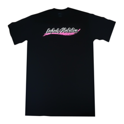 Lecheek Logo T-shirt - Black/Pink