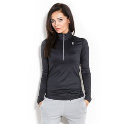 Longsleeve Woman's - Half-zip Black