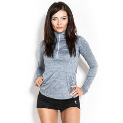 Longsleeve Woman's - Half-zip Grey