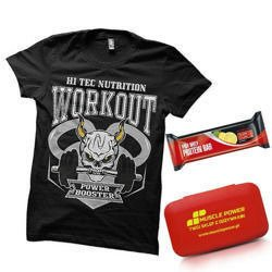 Pill box + Protein Bar - 80g  + T-Shirt Hi Tec - L
