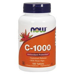 Vitamin C-1000 with Rose Hips - 100tabs.