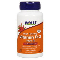 Vitamin D3-1000 IU - 360softgels