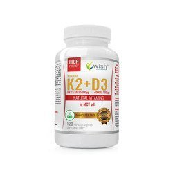 Vitamin K2 Mk-7 200mcg + D3 100mcg in MCT oil - 120caps