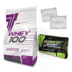 Whey 100 - 2000g + Multi Pack Sport Day Night - 60caps + Próbki (2szt) Gratis!