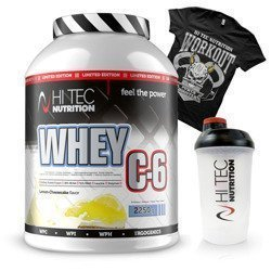 Whey C6 - 2250g + Shaker - 700 ml + T-Shirt