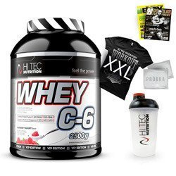 Whey C6 Vip Edition - 2500g + T-Shirt + Shaker + Newspaper + Samples Free!