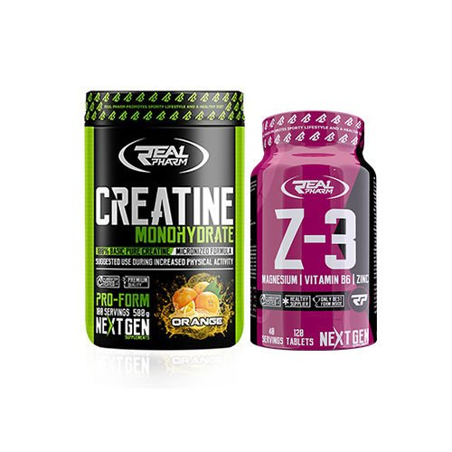 a843fdc317a2 Real Pharm - Creatine   500g   + Z3   120tab   GRATIS - Musclepower ...