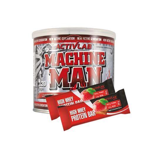 49d6e09009d9 Machine Man Burner   120caps   + High Whey Action Protein Bar   2x 44g   -  Effective fat burner + Protein Bars - ACTIVLAB - shop MusclePower