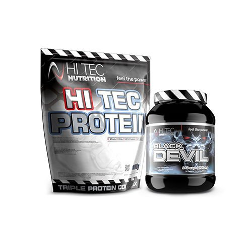 szczegóły dla dostępność w Wielkiej Brytanii gorąca wyprzedaż Protein - 1000g + Black Devil - 240caps
