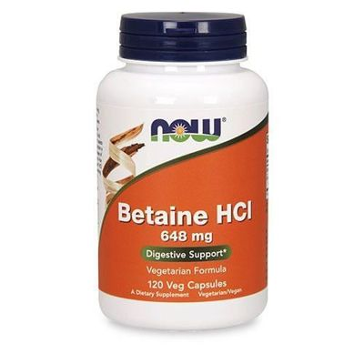 Betaine HCI 648mg - 120vcaps ( Betaina HCL )