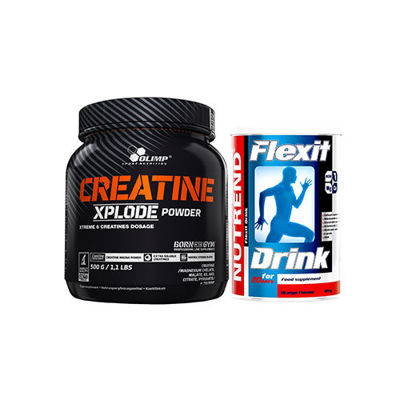 Creatine Xplode - 500g + Flexit Drink - 400g