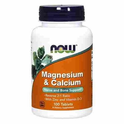 Magnesium & Calcium with Zinc and Vitamin D3 - 100tabs