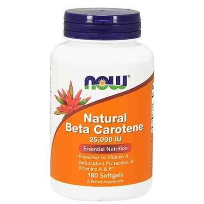 Natural Beta Carotene 25000 IU - 180softgels