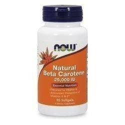Natural Beta Carotene 25000IU - 90soft gels
