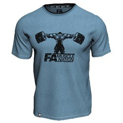 T-shirt Double Neck - Muscle Nation - Blue