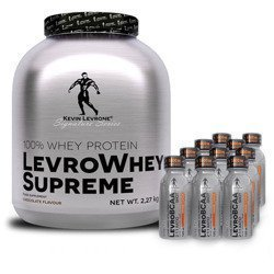 Whey Supreme - 2270g + Levro BCAA 2:1:1 Shot - 10x 120ml