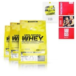100% Natural Whey Protein Concentrate - 3x 700g (2100g) + Gratis!