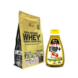 100% Natural Whey Protein Concentrate - 700g + Syrup Zero+ - 425ml - WYPRZEDAŻ