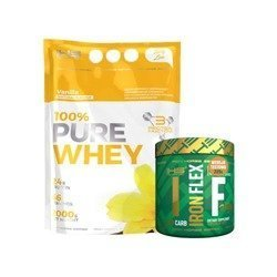 100% Pure Whey - 2000g + Iron Flex - 225g