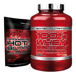 100% Whey Protein Professional - 2350g +  Hot Blood 3.0 - 100g GRATIS
