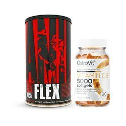 Animal Flex - 44pack + Vitamin D3 5000IU - 60softgel