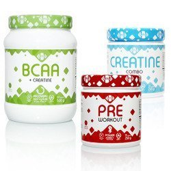 BCAA + Creatine - 500g + Pre-Workout - 250g + Creatine Combo - 250g
