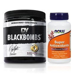 Black Bombs NEW - 300g + Now Foods Super Antioxidant - 60vegcaps