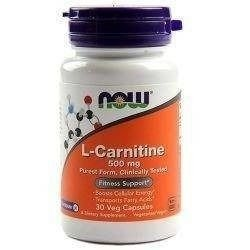 Carnitine 500mg - 30vegcaps
