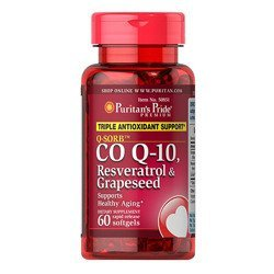 Coenzyme Q-10, Resveratrol & Grapeseed - 60softgels