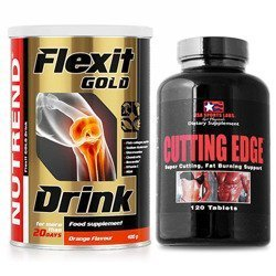 Flexit Drink Gold - 400g + Cutting Edge - 120tabs