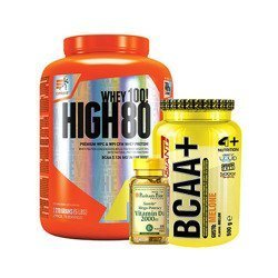 High Whey 80 - 2270g + BCAA Instant - 500g + Vitamin D3 2000 IU - 100softgels
