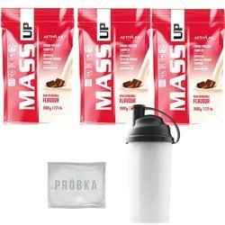 Mass Up - 3x 3500g + Shaker - 700ml + Losowa Próbka Produktu