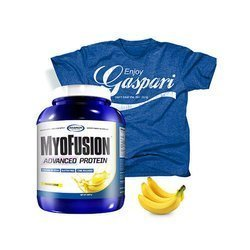 Myofusion Advanced EU - 1814g + Koszulka - T-shirt - Enjoy Gaspari - Blue