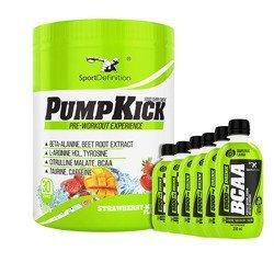 Pump Kick - 450g +  BCAA 5500 Drink 250ml x 6 szt.