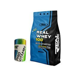 Real Whey - 2000g + Pro Vitamin - 90tabs GRATIS