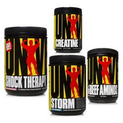 Shock Therapy - 840g + Storm - 750g + 100% Beef Amino - 200tabs + Creatine Micronized - 500g