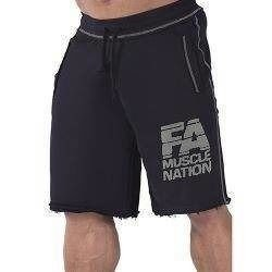Sweatshorts - Washed - Black - Promocja