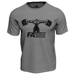 T-shirt Double Neck - Muscle Nation - Grey