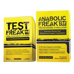 Test Freak - 120caps + Anabolic Freak - 96caps